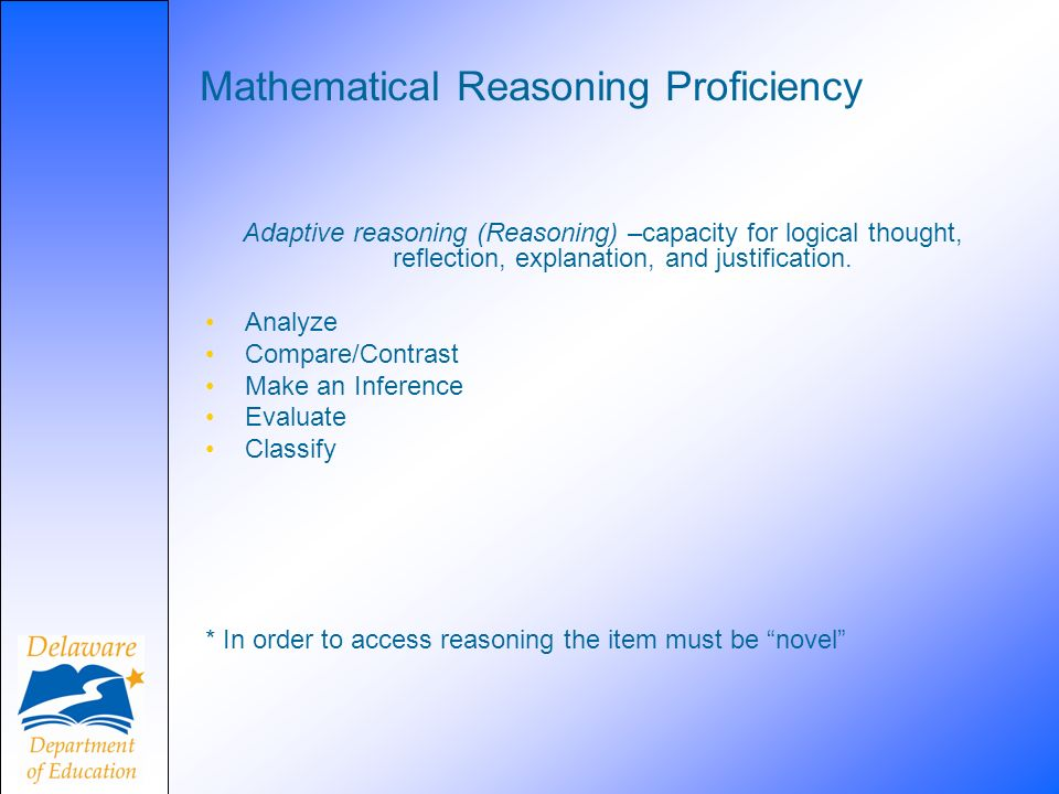 Mathematical Reasoning Proficiency