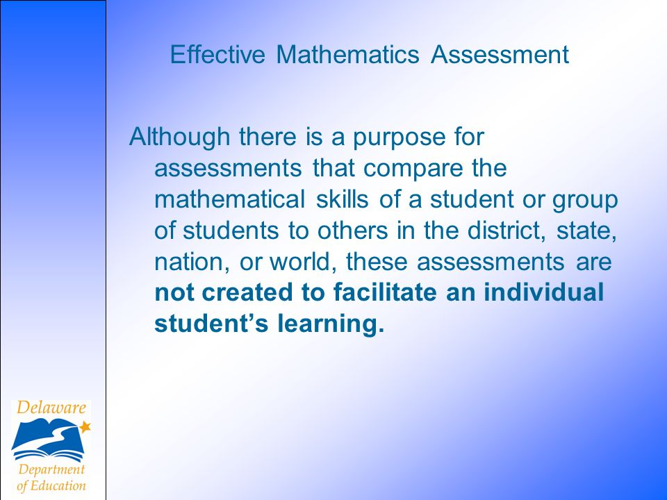 Effective Mathematics Assessment