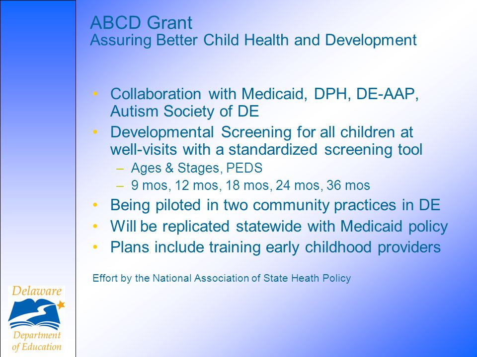 ABCD Grant Assuring Better Child Health and Development