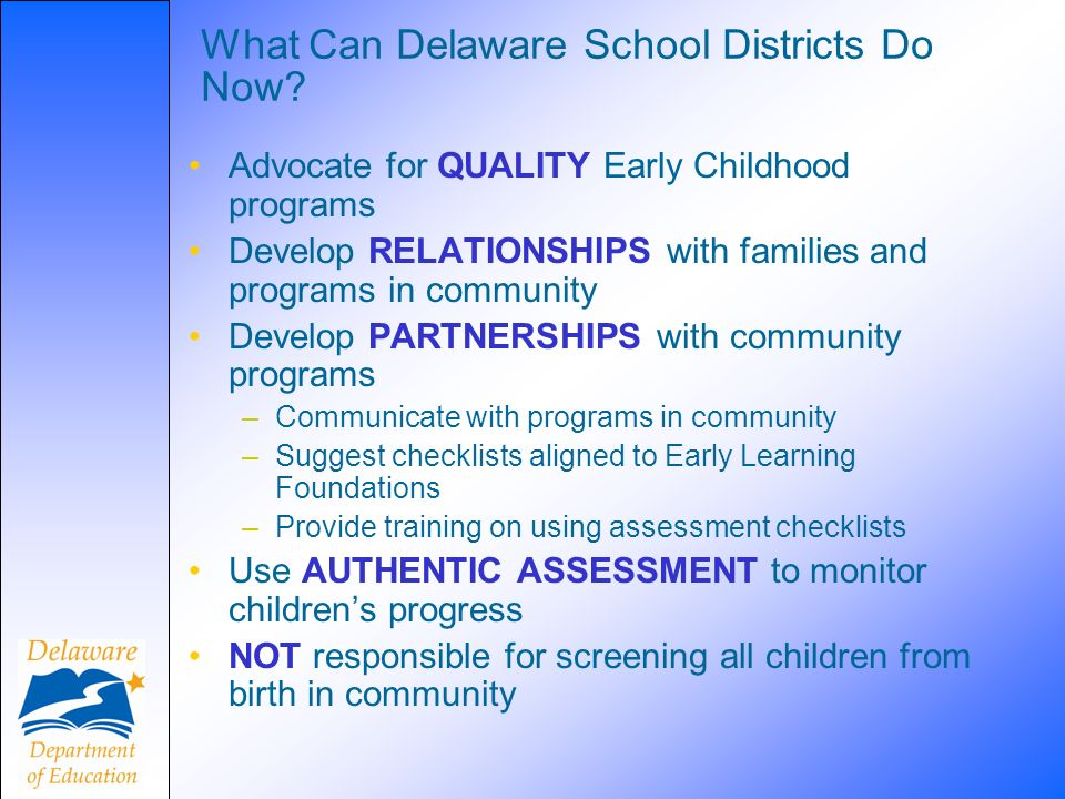 What Can Delaware School Districts Do Now