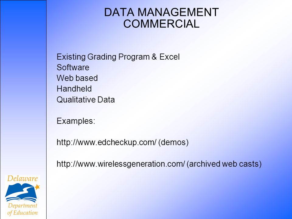DATA MANAGEMENT COMMERCIAL