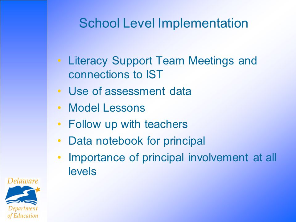 School Level Implementation