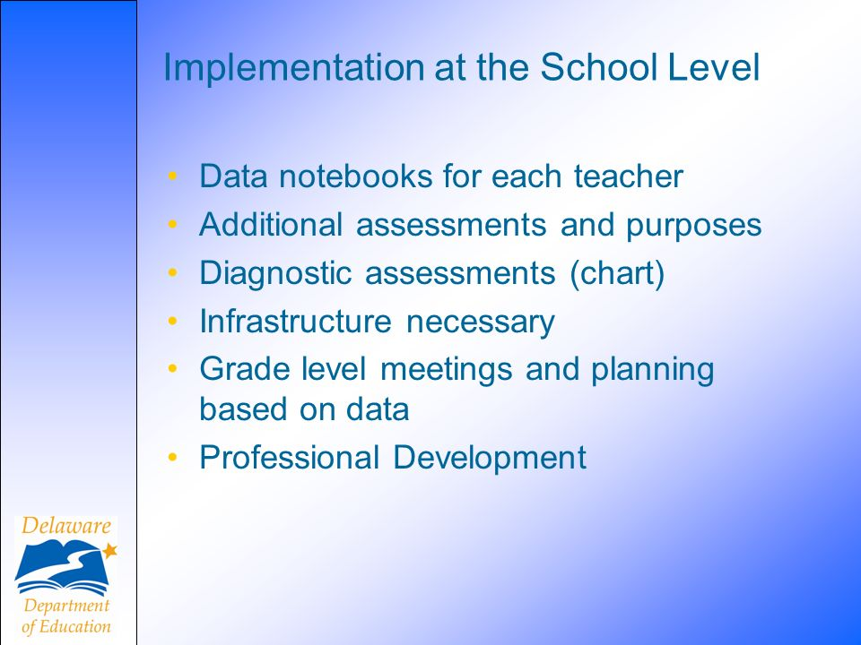 Implementation at the School Level