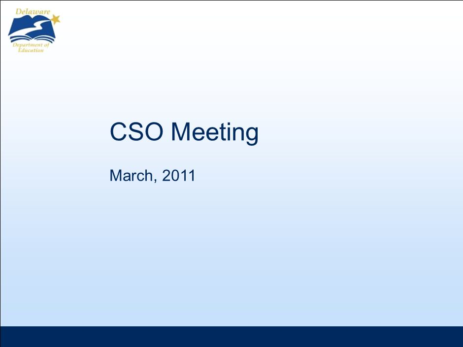 CSO Meeting March, 2011