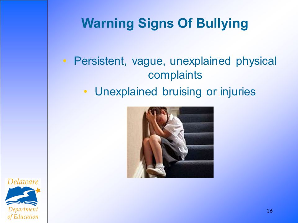 Warning Signs Of Bullying