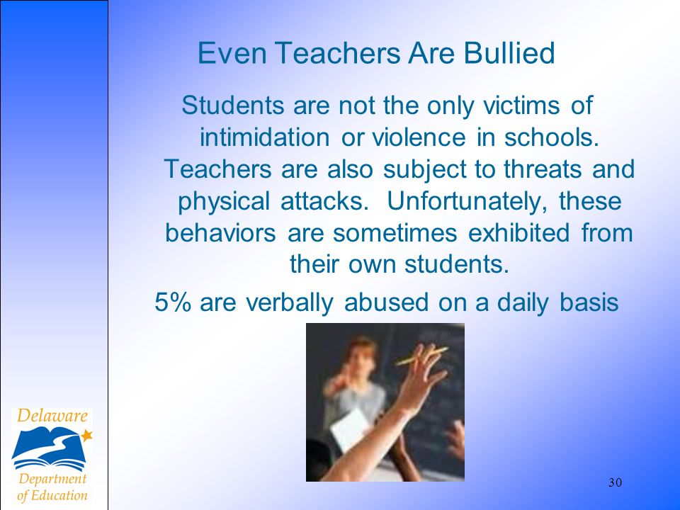 Even Teachers Are Bullied