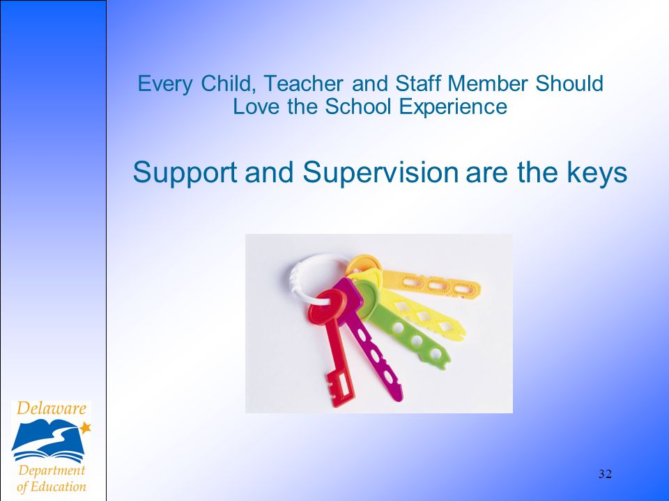 Support and Supervision are the keys