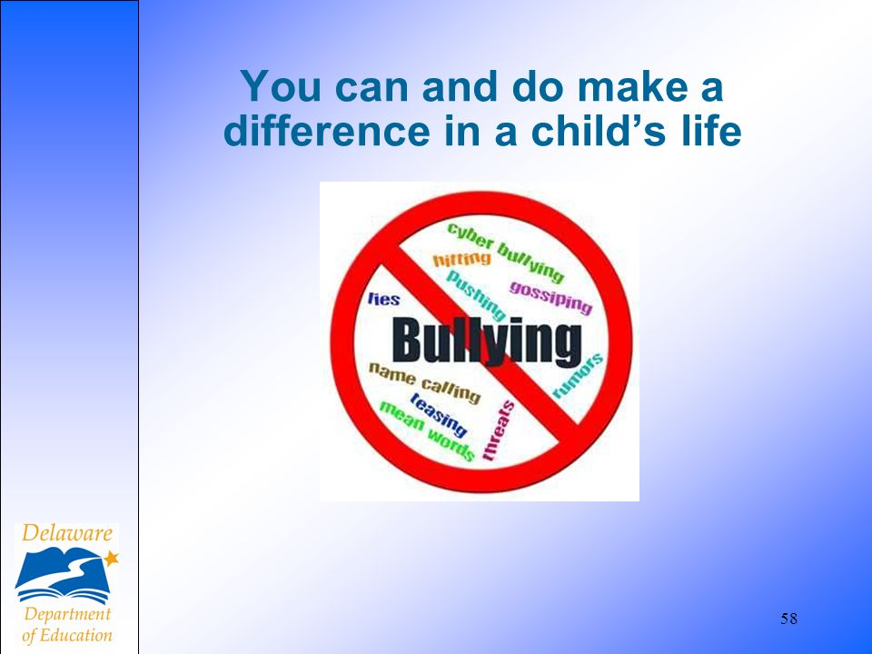 You can and do make a difference in a child's life