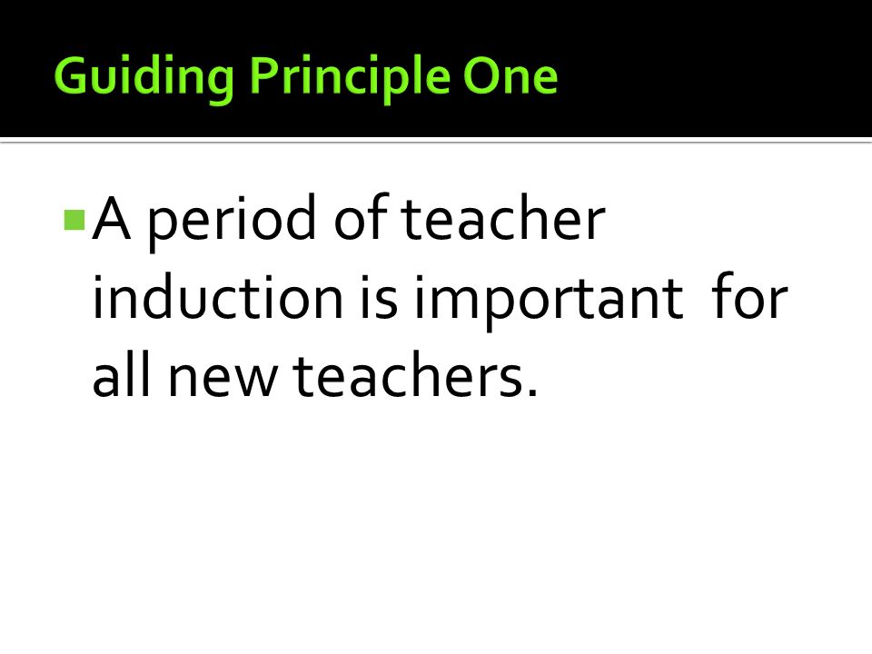 A period of teacher induction is important for all new teachers.