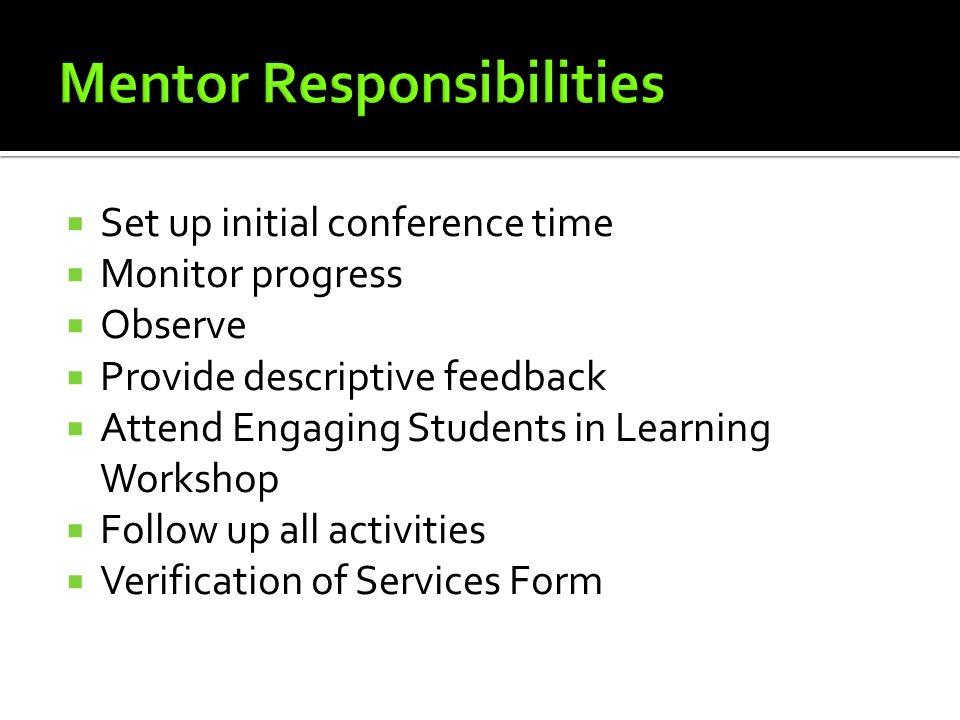 Mentor Responsibilities