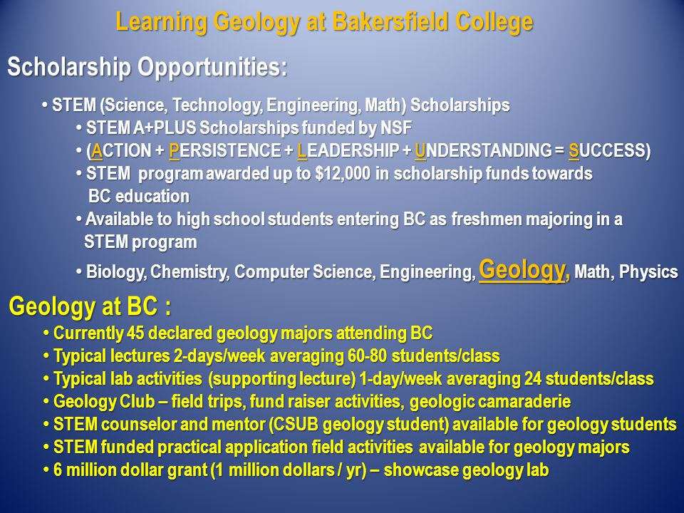 Natural Science Bakersfield College