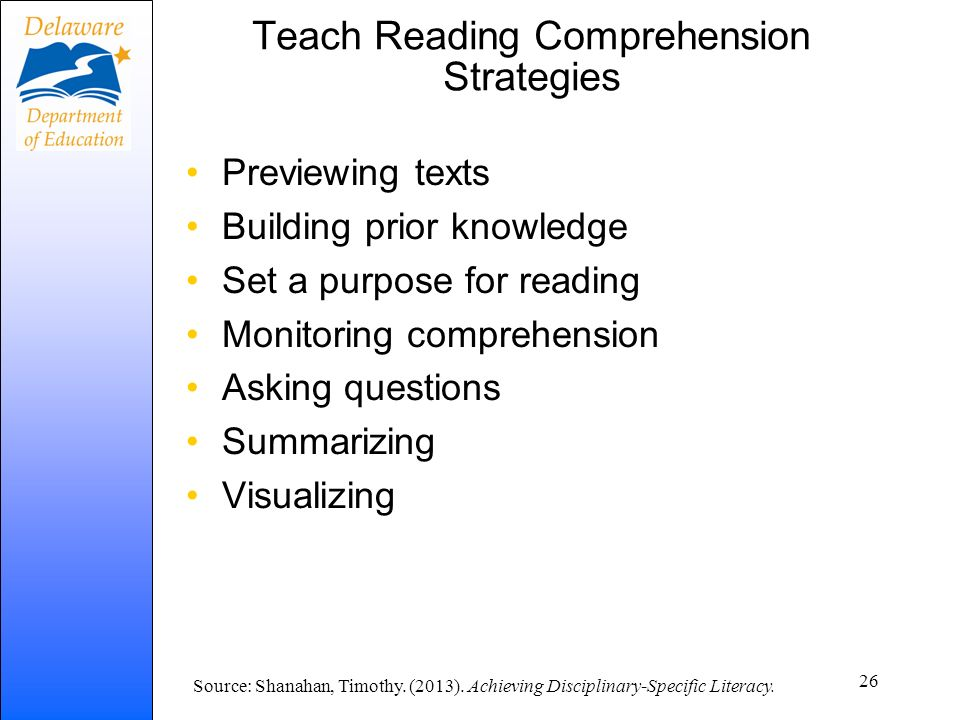 Teach Reading Comprehension Strategies