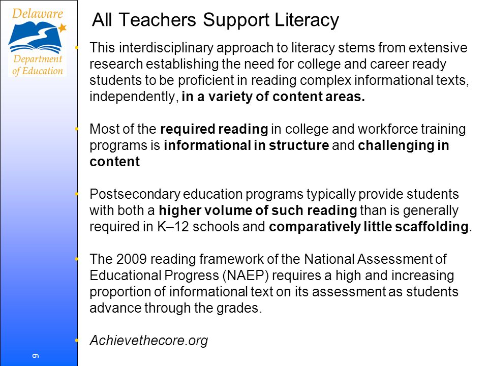 All Teachers Support Literacy