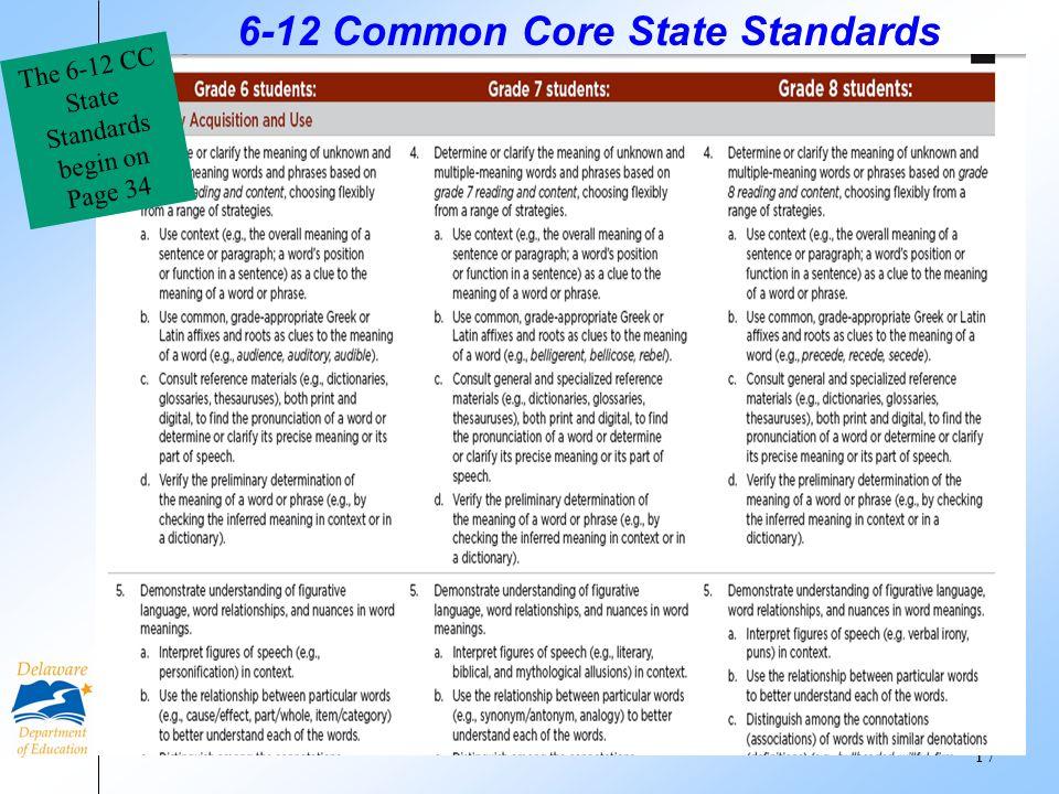 6-12 Common Core State Standards