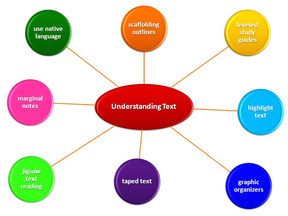 Understanding Text NATALIE scaffolding outlines leveled study guides