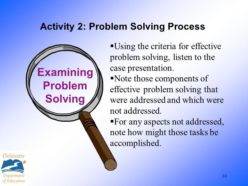 Activity 2: Problem Solving Process