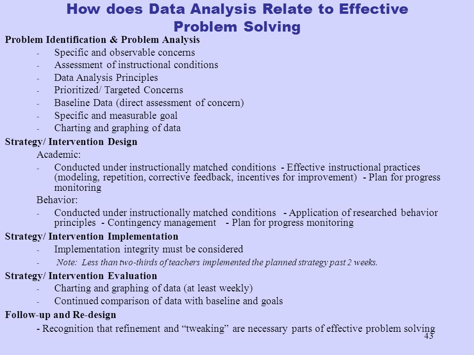 How does Data Analysis Relate to Effective