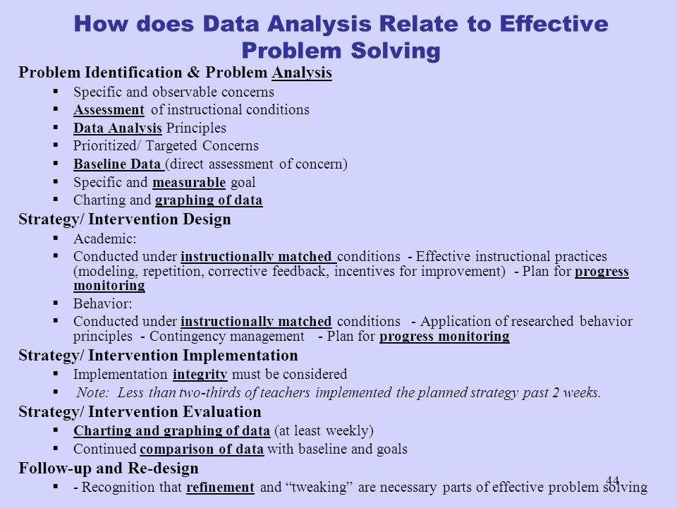 How does Data Analysis Relate to Effective Problem Solving