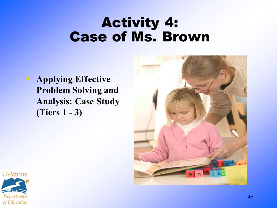 Activity 4: Case of Ms. Brown