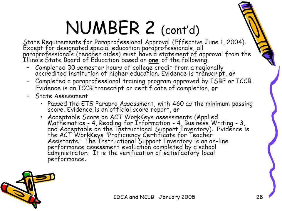 NUMBER 2 (cont'd)