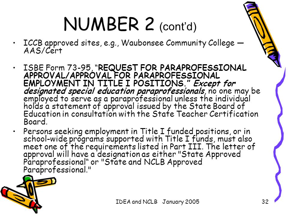 NUMBER 2 (cont'd) ICCB approved sites, e.g., Waubonsee Community College — AAS/Cert.