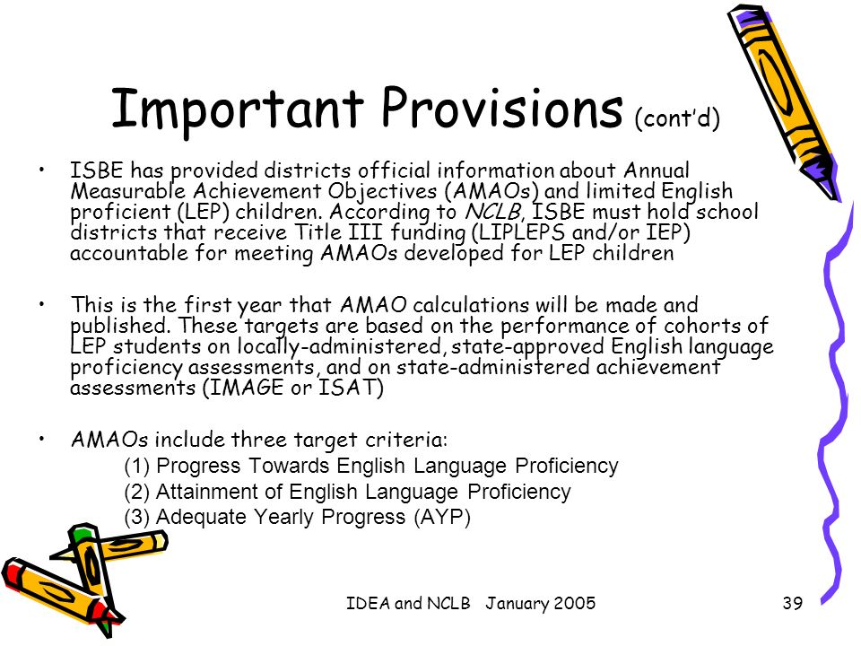 Important Provisions (cont'd)