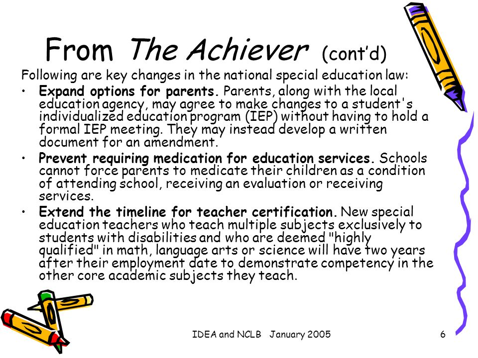 From The Achiever (cont'd)