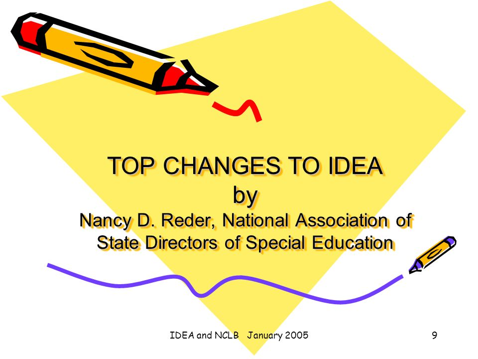 TOP CHANGES TO IDEA by Nancy D