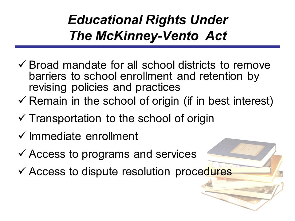 Educational Rights Under The McKinney-Vento Act