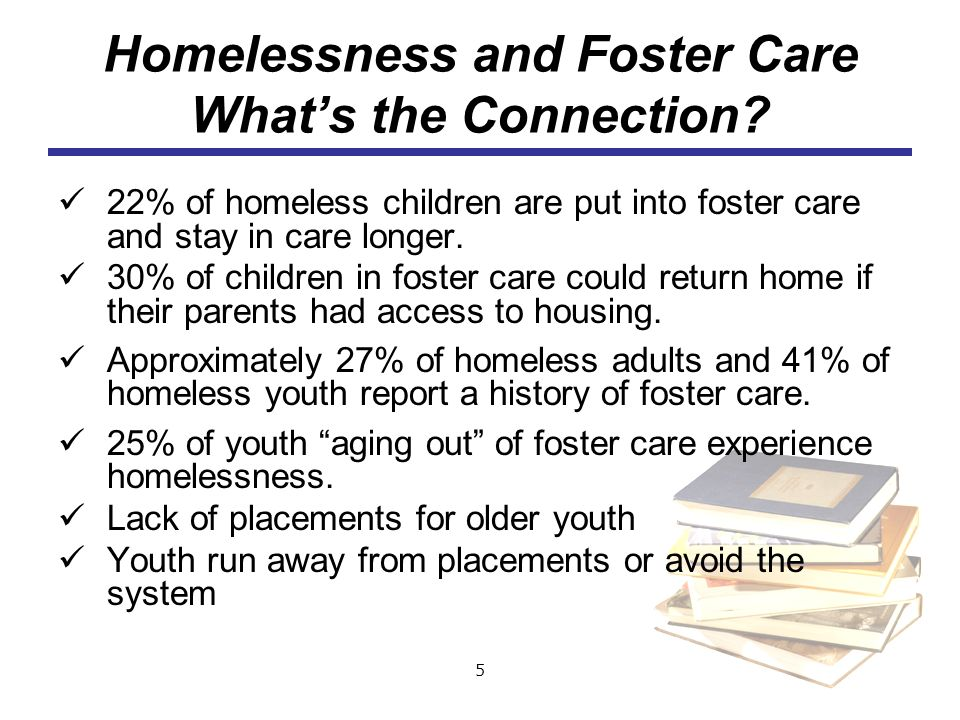 Homelessness and Foster Care What's the Connection
