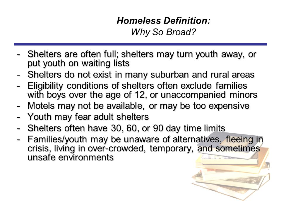 Homeless Definition: Why So Broad
