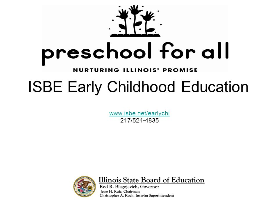 ISBE Early Childhood Education