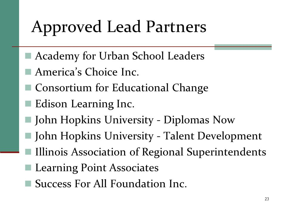 Approved Lead Partners