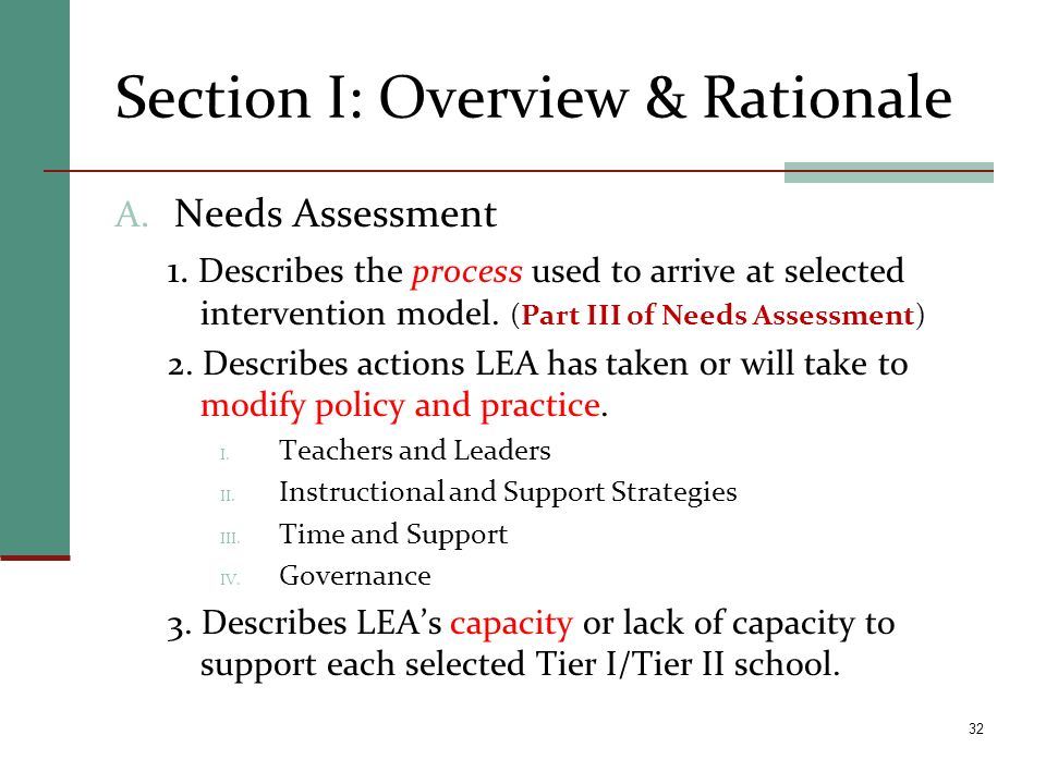 Section I: Overview & Rationale