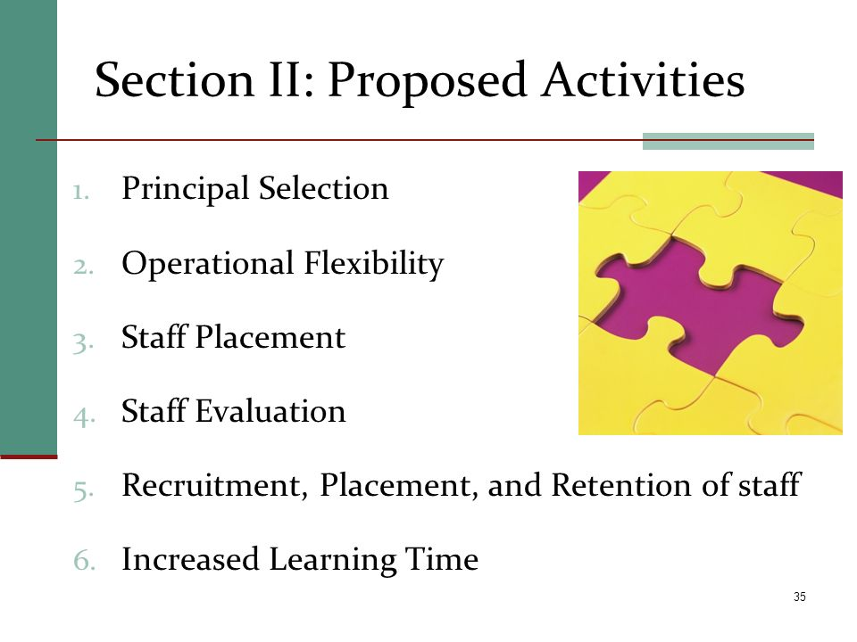 Section II: Proposed Activities