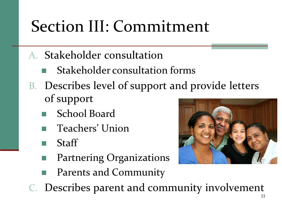 Section III: Commitment