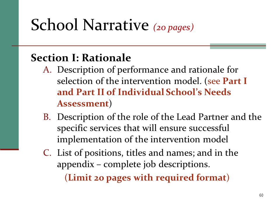 School Narrative (20 pages)