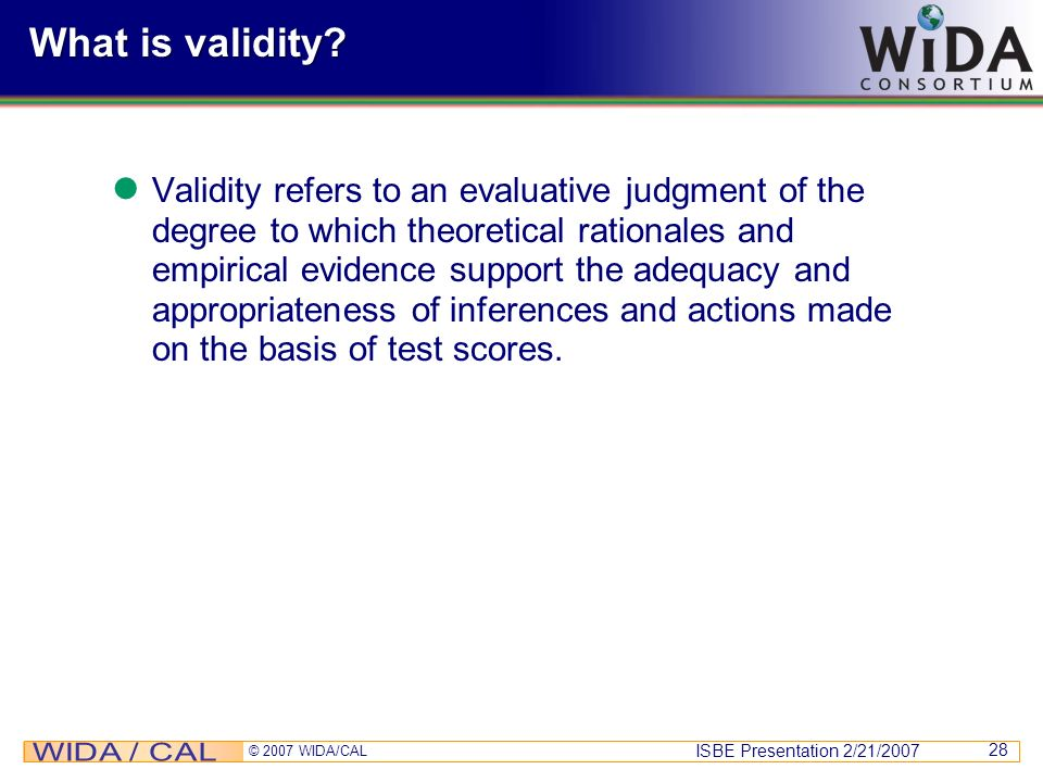 What is validity