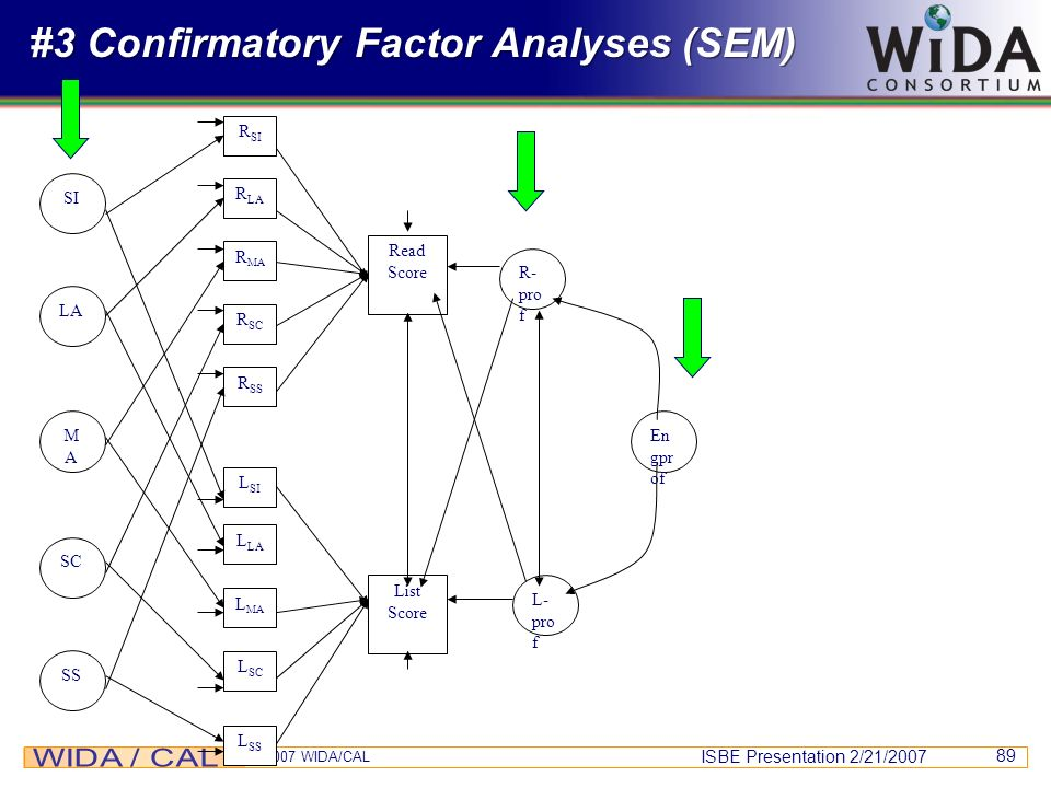 #3 Confirmatory Factor Analyses (SEM)
