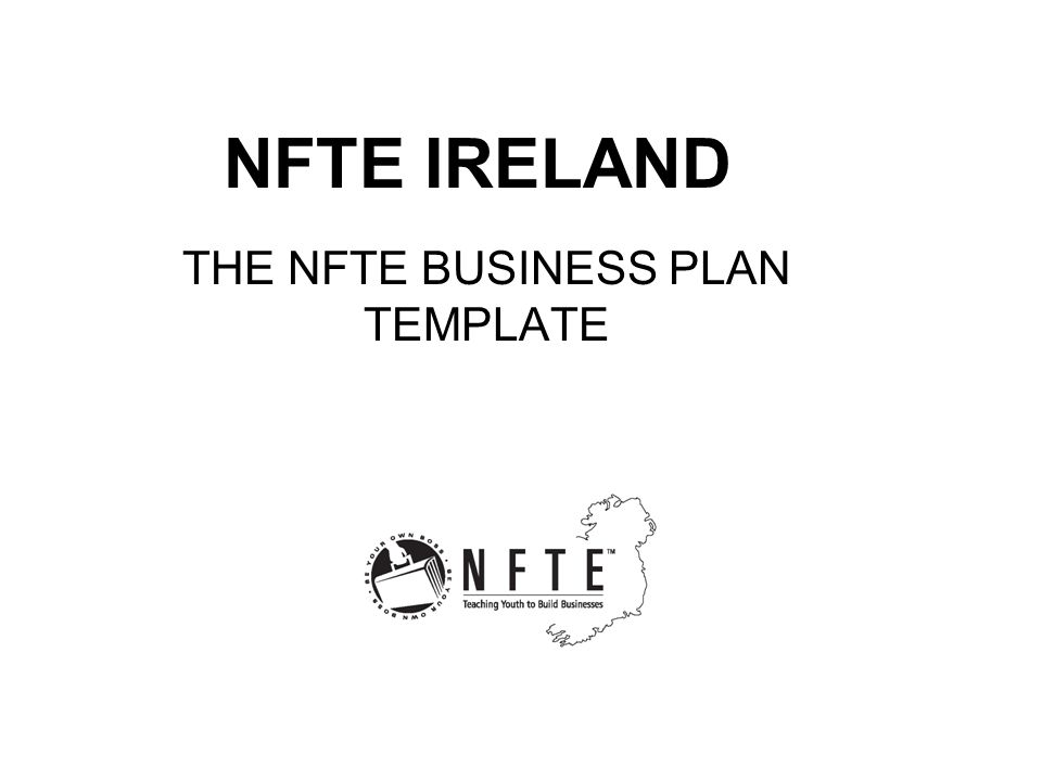 THE NFTE BUSINESS PLAN TEMPLATE Ppt Video Online Download - Nfte business plan template
