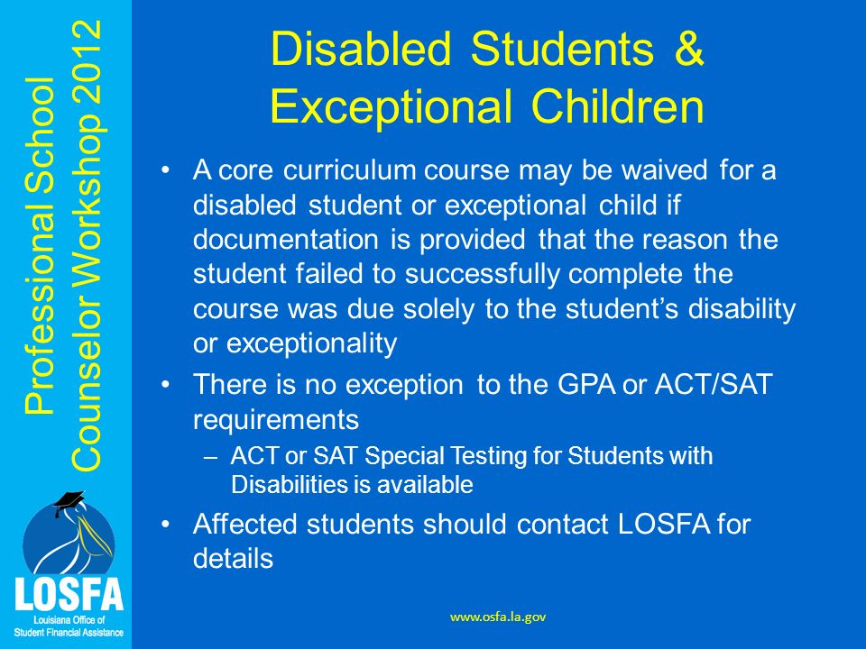 Disabled Students & Exceptional Children