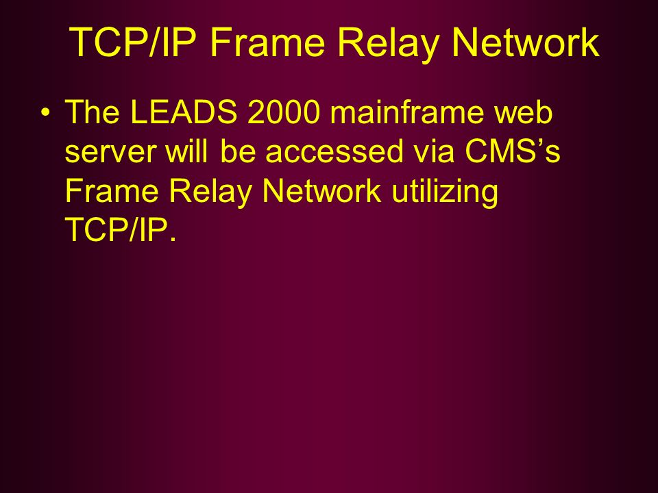 TCP/IP Frame Relay Network