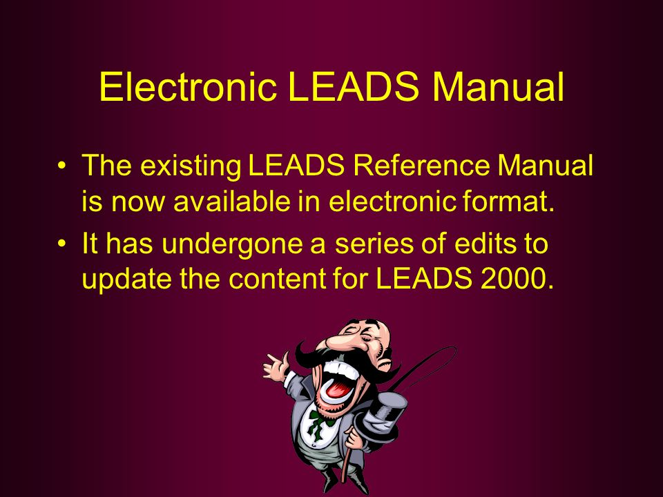 Electronic LEADS Manual
