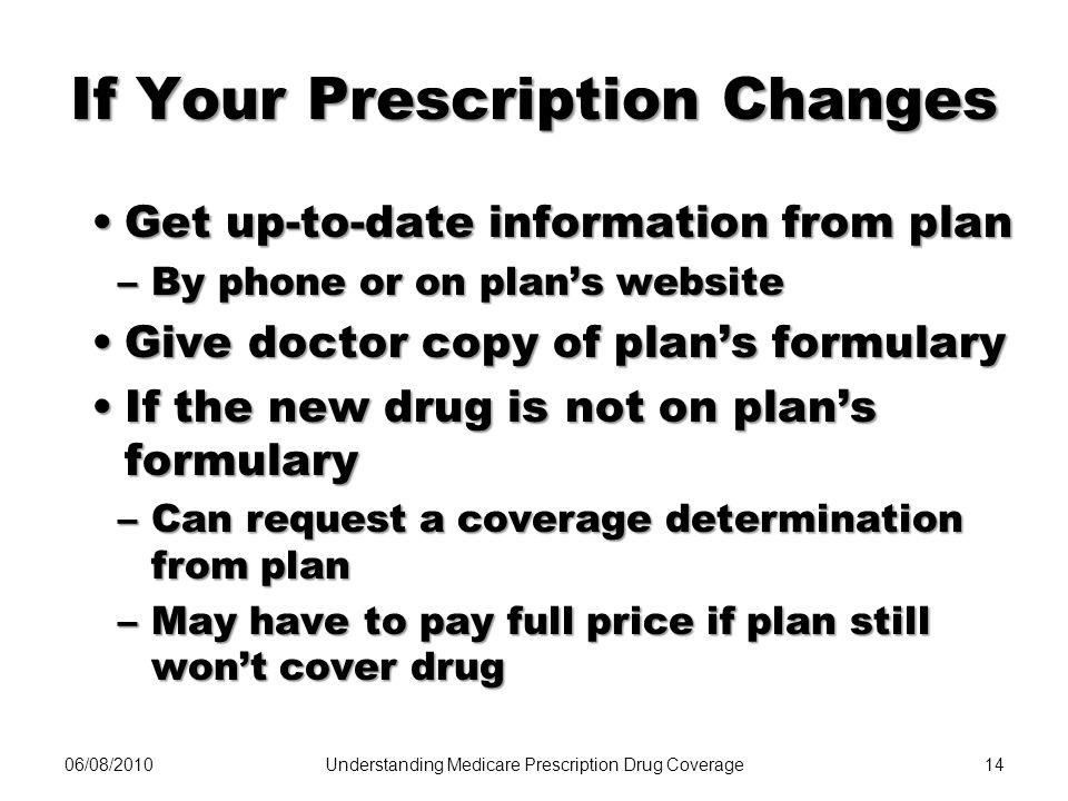 If Your Prescription Changes