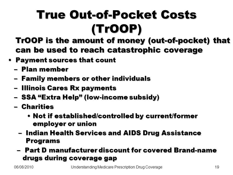 True Out-of-Pocket Costs (TrOOP)