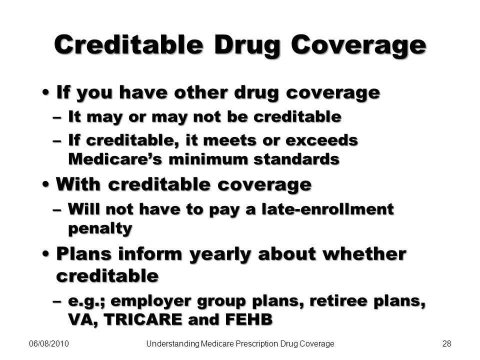Creditable Drug Coverage