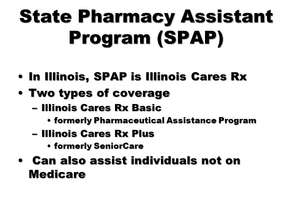 State Pharmacy Assistant Program (SPAP)