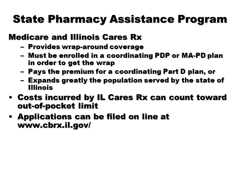 State Pharmacy Assistance Program