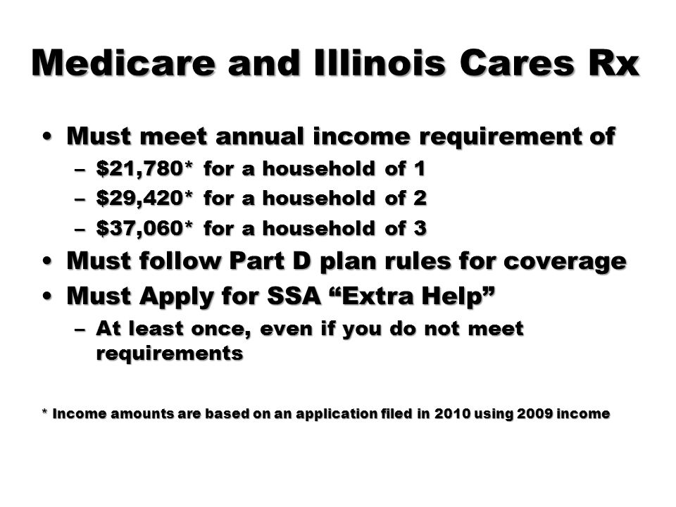 Medicare and Illinois Cares Rx