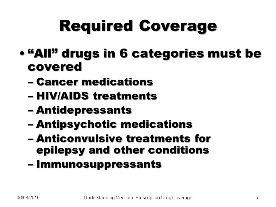 Understanding Medicare Prescription Drug Coverage